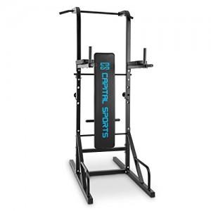 Capital-Sports-Spiris-Rack--squat-multifonction-avec-banc-repliable-et-supports-pour-haltres-chaise-romaine-tractions-dips-pompes-dvelopp-couchs-noir-0