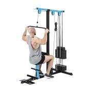 Capital-Sports-LZ-550-Station-de-traction-Tour-de-cbles-de-traction-2-cbles-Acier-Multifonctions-Plaque-de-poids-10-x-10-lb-total-45-kg-bleu-0-0