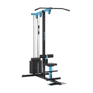 Capital-Sports-LZ-550-Station-de-traction-Tour-de-cbles-de-traction-2-cbles-Acier-Multifonctions-Plaque-de-poids-10-x-10-lb-total-45-kg-bleu-0
