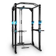 Capital-Sports-Tremendour-Power-Rack-Cage-Squat-Station-de-Musculation-2-x-Safety-Spotter-20-hauteurs-4-x-J-Hooks-Barre-de-Traction-multiprise-Construction-Massive-en-Acier-Noir-0-0