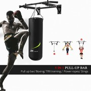 JX-FITNESS-Barres-de-Traction-Murale-Barre-de-Fitness-Gym--Domicile-Pull-Up-Bar-Faire-des-Exercices-TRX-et-Boxe-Training-Workout-0-0
