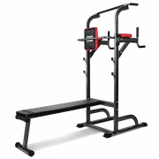 Pullup-Fitness-Barre-de-Traction-Ajustable-Chaise-Romaine-Station-Musculation-Dips-Station-Banc-de-Musculation-Pliable-Station-Traction-dips-Multifonctions-0
