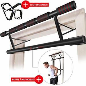 Sportstech-Ensemble-Unique-Barre-de-Traction-4en1-Pliable-KS500-pour-Cadre-de-Porte-incluant-Barre--dips-Elastiques-Montage-Facile-sans-visses-Barre-Pull-up-eBook-Inclus-0