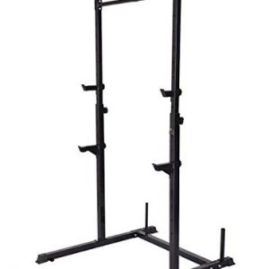 Squat-RackBarre-de-Traction-AjustableBarre-FixeDevelopper-couchPull-up-BarCage--Squat-0