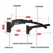 ISE-Barre-de-Tractions-Barre-de-Fitness-Fixation-Murale-Plafond-Exercices-Multi-Grip-Pull-Up-Bar-Espace-de-Sauvegarde-Max-120KG-Matriel-de-Fixation-INCL-SY-165-0-0