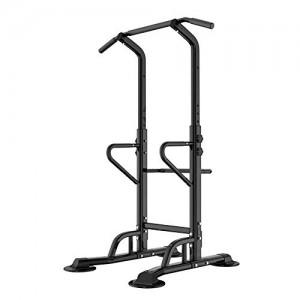 Barre-de-Traction-Ajustable-Workout-Dip-Station-Fitness-Power-Tower-Chaise-Romaine-pour-lentranement--la-Maison-Physique-Dentranement-de-Musculation-PSBB002-0