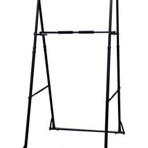 Portable-Support-de-Barre-de-Traction-Station-pullups-et-dips-SOLIDIT-MAXIMALE-Construction-Robuste-DE-QUALIT-Pliable-rglable-en-Hauteur-sans-CL-Livraison-du-courrier--Votre-Porte-0