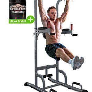 Sportstech-Chaise-Romaine-Musculation-7-en-1-PT300-Barre-de-tractions-Murale-Porte-Multifonctions-Barre-de-Musculation-Station-de-tractions-dips-Barre-Pull-up-Bar-accoudoirs-poignes-pour-Pompe-0